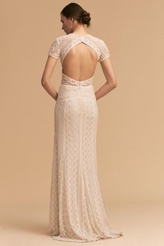 Ivory/oyster Monica Gown | BHLDN