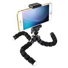 Mini Sponge Flexible Tripod,3-way stick with 1/4 Screw Octopus Shape,for GoPro HD Hero Cell Phones iPhone 6 6+ 5S 5C 5 4S 4, Samsung Galaxy S5 S4 S3 S2, Note 3 2 1,LG, Motorola, HTC, Sony, Nokia --Black by Jiale - Brand Name: Jiale   Specfication: -Brand New and High quality.Flexible and wrappable legs with a 360 full ritation for all angles, Shape can be more casual, higher flexibility, grasp the resultant force very strong. -Indoor use for taking family photo, or stand phon