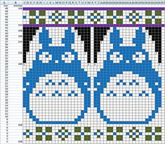 Ravelry: KonaSF's Totoro Sweater Fair Isle Knitting Patterns, Knitting Charts, Baby Knitting, Totoro, Crochet Cross, Sewing Art, Tapestry Crochet, Knitted Blankets, Yarn Crafts