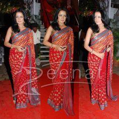 Bollywood Saree – Celina Jaitley   Zeenat Style