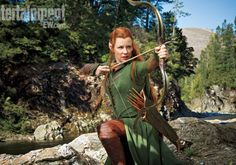 Evangeline Lilly as Tauriel in The Hobbit 2