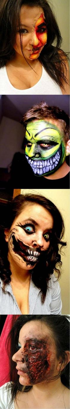 Awesome Artistic Protestors From Columbia Halloween face paintings - face painting halloween ideas
