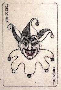 Original Joker card by Jerry Robinson
