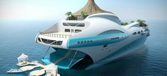 The fascinating tropical island yacht project is designed by the UK based yacht design company Yacht Island Designs. The floating tropical island would be Yacht Design, Design Hotel, Super Yachts, Paradise Island, Tropical Island, Grand Luxe, Yacht Boat, Island Design, Jet Ski