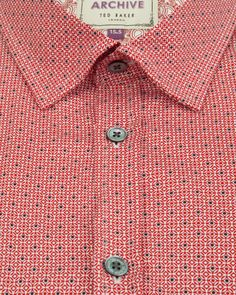 Geo print shirt - Red | Shirts | Ted Baker UK