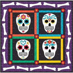 Day of the Dead Sugar Skulls Quilt Pattern CLS-112