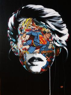 Montreal artist Sandra Chevrier is producing work that unites a feminine gaze with heroic expression, creating powerful and metaphorically androgynous art. Art Pop, Comic Kunst, Comic Art, Comic Book, Illustrations, Illustration Art, Sandro, Sandra Chevrier, Collages