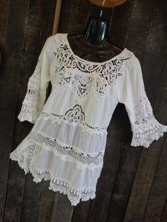 alternative lace tunic bohemian victoriana von WildColonialGirl, $70.00
