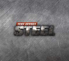 Steel Text Effect PSD - Free Designs