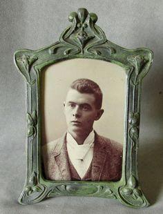 Antique Art Nouveau Picture Frame in Original Paint