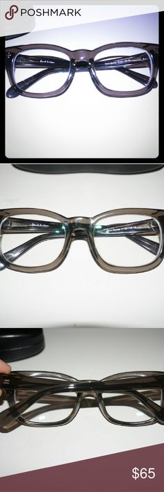 Sale!* Trendy Eyeglasses Trendy Eyeglasses -New- these glasses are perfect for the everyday trendy look. They have a clear grey design. Very subtle. Large frame. 51 by 20 by 148 Your prescription can easily be added at most optical places to fit these. Accessories Glasses