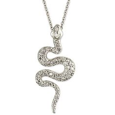 18k Diamond Snake Pendant from Borsheims