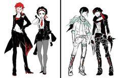 RWBY Genderbend: Adam, Junior, Melanie and Militia.