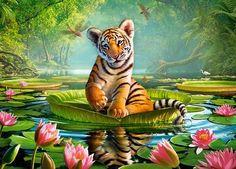 Kinderpuzzle 120 Teile - Tiger und Seerosen von Castorland in Spielzeug, Puzzles & Geduldspiele, Puzzles | eBay!