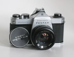Vintage Working Honeywell Pentax Spotmatic 35mm Film Camera with Leather Case by CanemahStudios on Etsy