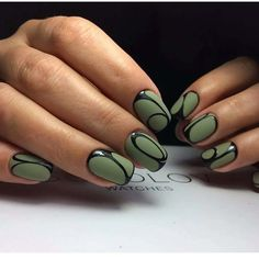 Having short nails is extremely practical. The problem is so many nail art and manicure designs that you'll find online Green Nail Designs, Best Nail Art Designs, Short Nail Designs, Green Nail Art, Green Nails, Black Nails, Nailart, Fun Nails, Pretty Nails