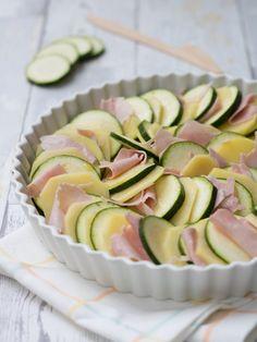 Zucchine e patate al forno con prosciutto   Fornelli Fuori Sede