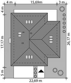 Rzut projektu Goran 3 House Plans, Floor Plans, Architecture, Homes, Balconies, Ceilings, Houses, Building Designs, Arquitetura