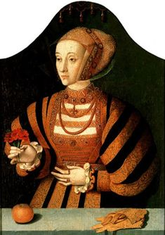 Hans Holbein the Younger - Portrait of Anna of Cleves.The lesser known second portrait of Anna of Cleves by Hans Holbein the Younger. Anne Boleyn, Anne De Cleves, Jane Seymour, Tudor History, European History, British History, Asian History, Ancient History, American History