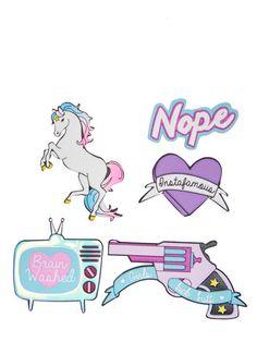 Skinnydip Girls Kick Butt Plushie Sticker Pack