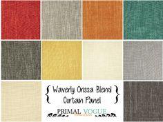 Linen Blend Curtain Panels with Rod Pocket by PrimalVogueHomeDecor  #linen #linenblend #cotton #solid #mustard #teal #grey #gray #red #pumpkin #curtains #curtainpanels #designer #homedeocr