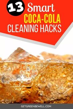 Effective ways to use Coke to clean around your home! Never throw flat soda down the drain again! Use it for these cleaning hacks. #cleaninghacks #cleaning Homemade Cleaning Products, Cleaning Recipes, Natural Cleaning Products, Cleaning Hacks, Cleaning With Coke, Green Cleaning, Natural Disinfectant, Green Living Tips, Sustainable Food