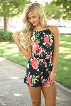 Because Of Your Love Romper Black