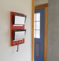double wall mount mail letter holder key rack organizer