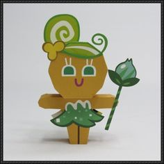 LINE Cookie Run - Fairy Cookie Free Papercraft Download - http://www.papercraftsquare.com/line-cookie-run-fairy-cookie-free-papercraft-download.html