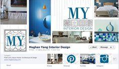 Meghan Yang Interior Design. Facebook Banner design by #SparkCollaborative #branding #socialmedia Home Interior Design, Interior Architecture, Facebook Banner, Home Decor Inspiration, Brand Names, Typography, Branding, House Design, Marketing