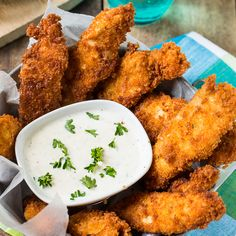 Ranch Chicken Tenders Adding ranch seasoning mix to the coating gives these chicken tenders tons of flavor.