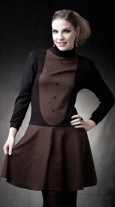 Stretchkleider - NARA® Winterkleid, mit schwingende Rockteil - ein Designerstück von Berlinerfashion bei DaWanda
