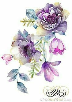Tole Decals and Transfers Shabby Pastel Watercolor Flower Bouquet . - Tole Decals and Transfers Shabby Pastel Watercolor Flower Bouquet … – – - Illustration Botanique, Illustration Blume, Watercolor Illustration, Illustration Flower, Pastell Tattoo, Pastel Watercolor, Watercolor Flower Tattoos, Thigh Tattoo Watercolor, Free Watercolor Flowers