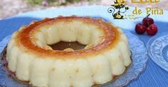 1 latade820 gde piña en su jugo 100 ml de leche evaporada 1 sobre de gelatina de piña Caramelo líquido Cubrimos el ...