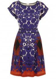 Folklore Scarf Print Day Dress