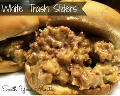 If you're entertaining for crowd, or just want fun small sandwiches for a family night, this slow cooker slider recipe for Slow Cooker White Trash Sliders is easy and delicious!