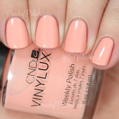 CND VINYLUX Salmon Rush | Spring 2015 Flora & Fauna Collection | Peachy Polish #pink/orange