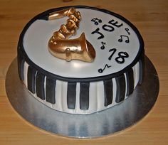 piano cakes images | ... for that musical maestro! The Sax and Piano cake – from £50
