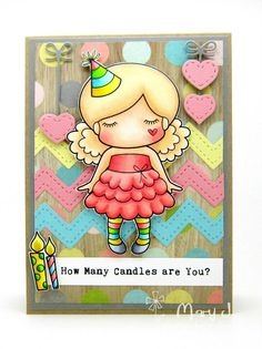 CHA 2015 New Release Showcase - Day 2! Card by Mary Johnson featuring Paper Doll Marci (Birthday) and these Dies - Stitched Zigzags, Hanging Hearts and Love Word Set :-) Shop for our NEW products here - http://shop.lalalandcrafts.com/NEW_c16.htm More Design Team inspiration here - http://lalalandcrafts.blogspot.ie/2015/01/cha-2015-new-release-showcase-day-2.html