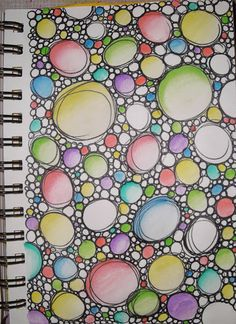 While this is actually a sketch, it would make a good bubbles/stones quilting pattern on white or pastel cloth. Just go back over the quilting and do some coloring and shading with your favorite fabric paint or markers. From the blog: 365 Days of Art: Doodle Fun