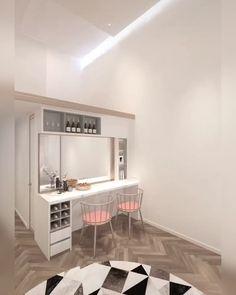 Loft House Design, Small House Interior Design, Small Apartment Design, Living Room Interior, Small Room Design Bedroom, Home Room Design, House Rooms, Home Decor Styles, Desk Bed