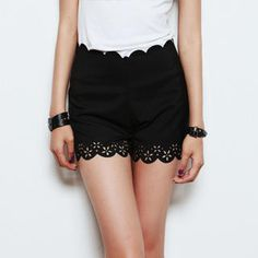 Picture of Nalan Girl Scallop-Hem Shorts 1023051411 (Womens Shorts, Nalan Girl Pants, South Korea Pants)