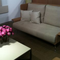 Love this retro wing furniture in the knoll showroom!