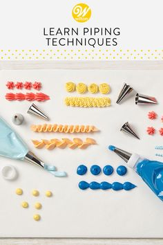 Check-out the wide range of piping techniques weve assembled to help your next bake stand-out. Cake Decorating Company, Creative Cake Decorating, Creative Cakes, Cookie Decorating, Wilton Cake Decorating, Cake Piping Techniques, Cake Decorating Techniques, Icing Tips, Frosting Tips