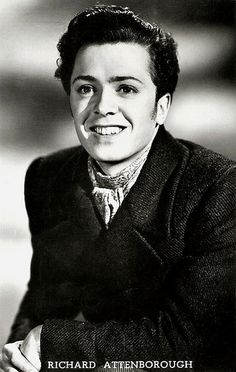 Richard Attenborough in matinee-idol mode. And yet his obituaries are saying David got all the good looks .Richard Attenborough in matinee-idol mode. And yet his obituaries are saying David got all the good looks . Hollywood Men, Hooray For Hollywood, Classic Hollywood, British Lions, British Actors, Richard Attenborough, Richard Ii, People Of Interest, Black And White Portraits