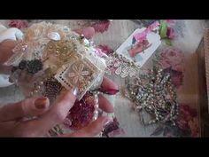 Tutorial - Shabby rustic flower embellishment - YouTube
