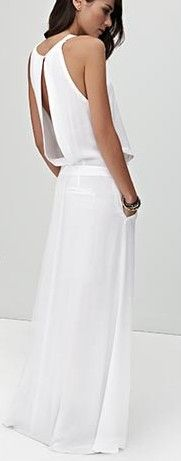 white maxi maxi dress #emma875 #style for women #womenfashionwww.2dayslook.com