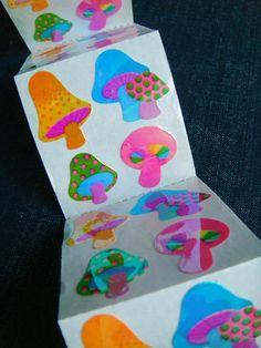 Woodland Mushrooms Vintage 90s Sandylion Stickers 4 by cmyk, $5.00