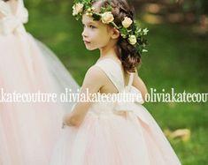 Flower Girl Dress Natural Navy
