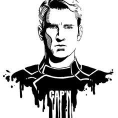 Avengers in Ink: Captain America by loominosity on DeviantArt